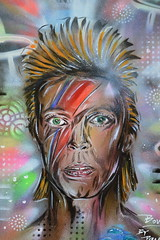 Brixton Boy (dhcomet) Tags: portrait streetart london face pop davidbowie ziggystardust