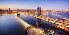 Manhattan Bridge at Dusk (Tony Shi Photos) Tags: manhattanbridge eastriver iconic famous famousplace internationallandmark newyorkcity newyork midtownskyline newyorkcityskyline dumbo brooklyn clocktower dumboclocktower onemainstreet penthouse longexposure touristattraction traveldestination            nowyjork novayork
