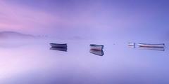Breathing Space (J McSporran) Tags: mist landscape scotland peaceful calm trossachs morningmist rowingboat lochrusky