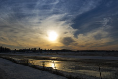 the road home (Barbara A. White) Tags: sunset ontario canada march spring woodlawn constancebay floodedfields