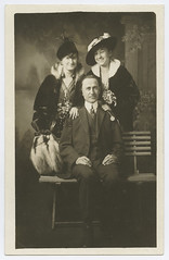 Amon Carter Sr & Wife (SMU Central University Libraries) Tags: texas businessmen rppc