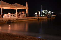 Tolon at Night (unkel.unterwegs) Tags: light night strand meer nacht greece griechenland beleuchtung tolon peloponnesos peloponnes