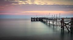 Totland Pier (Dave2638) Tags: longexposure sea water evening dusk isleofwight solent slowshutter totland iow2015