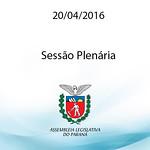 Sess�o Plen�ria 20.04.2016
