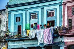 Havana, Cuba - Calle Dragones (David Pirmann) Tags: havana cuba laundry clothesline