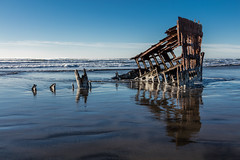 2016-01-10 - Peter Iredale Shipwreck-32 (www.bazpics.com) Tags: ocean sea usa beach water oregon america skeleton sand ship pacific or wave peter shipwreck frame hull wreck iredale