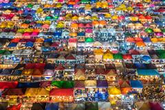 The New Rot Fai Market Ratchada [Explored] (BP Chua) Tags: street travel night train landscape asian thailand lights nikon asia colours market bangkok stall d750 colourful ratchada rotfai flickrtravelaward