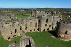 The Inner bailey Ludlow Castle (Eddie Crutchley) Tags: england sunlight castle outside ruins europe shropshire medieval ludlow ludlowcastle historicbuilding greatphotographers innerbailey simplysuperb