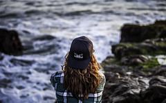 Bean Hollow (kat.clark) Tags: ocean california water redhead explore pacificocean redhair mavericks baseballcap lookingout beanhollow backwardshat titansofmavericks