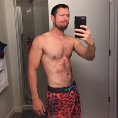 Hot tubbin' attire (turbofan) Tags: shirtless hairy me self hair fur bathroom furry board chest shorts selfie stomache