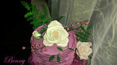 Roses cake (Beni 2) Tags: pink flowers rose cake spring fondant gumpaste