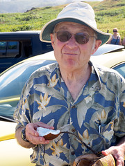 fred got his coconut (dolanh) Tags: hawaii coconut maui fred nakaleleblowhole kahekilihighway