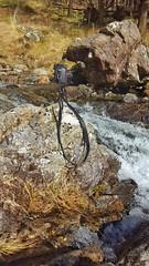 On the edge (Mirrorless for me) Tags: lumix waterfall phone samsung fisheye panasonic remote remotecontrol snowdonia minitripod samyang microfourthirds panasonicg6 imageapp samsungs6