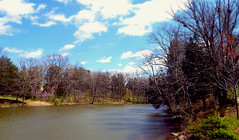 Lake Nevin,  Bernheim Arboretum and Research Forest (EX22218 - ON/OFF) Tags: blue water clouds forest spring fishing hiking kentucky blossoms lakes arboretum science ponds immigrant clermont waterways nwn bernheim researchforest project365 flickrsbest lakenevin isaacwbernheim