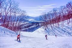 Hakuba dream (Dan John Cumberland) Tags: snow film japan 35mm fuji mju olympus ii 100 provia hakuba