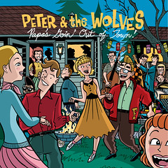 Peter & the Wolves cd front (Tom Bagley) Tags: party summer canada calgary illustration ink cat backyard cartoon teen alberta rockabilly 50s albumart firepit adobeillustrator tombagley tikilights peterandthewolves