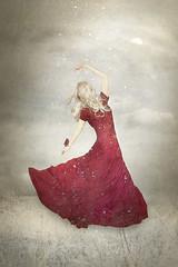 Invocation (Elisabeth on Earth) Tags: winter red snow bird girl fairytale elizabeth dress cardinal surrealism fantasy ethereal snowfall invocation elisabethladwig elisabethonearth
