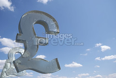 Cold Hard English Cash (the UMF) Tags: uk blue sky abstract ice illustration frozen 3d symbol surrealism render surreal freeze concept copyspace transparent success bizarre currency isolated wealth finance computergraphic threedimensional poundsterling exchangerate threedimensionalshape illustrationandpainting digitallygenerated poundsymbol