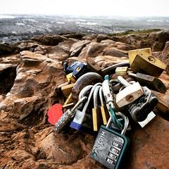 Remember me (matt_stanford) Tags: scotland edinburgh seat arthurs padlocks