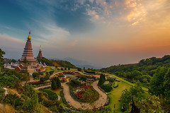 Sunset (Fevzi DINTAS) Tags: travel sunset sky tourism nature architecture clouds garden landscape thailand temple photography pagoda amazing asia religion wideangle places fisheye believe viewpoint nationalgeographic destinations paza140