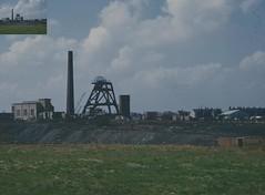 Newtown Colliery 1963, Swinton. (Granpic) Tags: lancashire industriallandscape colliery coalmining swinton pithead industrialarcheology windinggear newtowncolliery