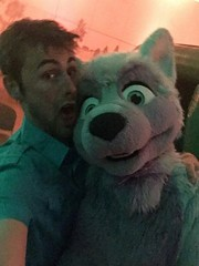 Some partying at a Birthday Party of Luckytiger ^-^ This is Lightning :3 #party #latenight #halfpast4 (Keenora Fluffball) Tags: furry kee fursuit keenora