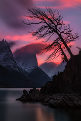 7 Minutes at St Mary's (Mark Metternich) Tags: park longexposure pink sunset mountain lake mountains st tour glacier national workshop marys tours workshops surrela markmetternich markmetternichcom