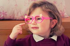 Naomi (JonMad) Tags: light english window pose glasses uniform fake naomi preschool prop colorefex