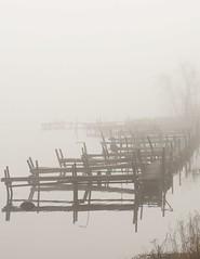 Early Morning Fog (Estes Bob) Tags: usa water fog rural landscape dock wi crivitz lakenoquebay