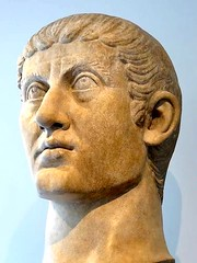 Portrait of the Roman Emperor Contantine I, the first Christian ruler of the Roman Empire (mike catalonian) Tags: sculpture head marble ancientrome constantinei