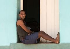 Comfy Place to Sit (Chris Willis 10) Tags: people cuba cuban trindad