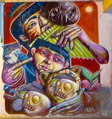 Auka Mural (caBzPeru) Tags: peru colors canon graffiti photo mural selva 55mm auka draw dibujo plazadearmas puertomaldonado madrededios peruestrella
