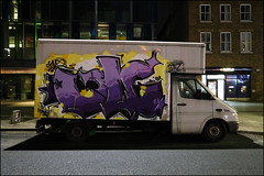 Cave (Alex Ellison) Tags: urban white night graffiti boobs painted lorry van graff whitechapel eastlondon boxtruck