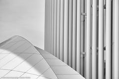 PHILHARMONIE LUXEMBOURG II (rolleckphotographie) Tags: urban abstract architecture facade blackwhite sony architektur schwarzweiss luxemburg fassade philharmonieluxembourg slta65v rolleckphotographie stefanrollar