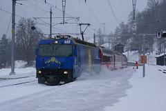 2010-02-11, RhB, Filisur (Fototak) Tags: train switzerland railway treno rhb graubnden 652 hcd schmalspurbahn ge44iii
