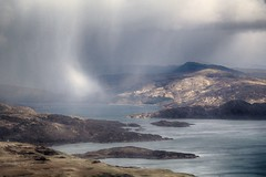 Morvern snow squall (OutdoorMonkey) Tags: snow weather squall landscape outside scotland outdoor morvern lochsunart benhiant