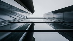 [From the Series: Urban Facade Abstractions] (Thomas Bonfert) Tags: urban abstract lines architecture reflections shadows