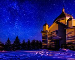 Starry Night (labels_30) Tags: winter snow stars carvel starrynight carvelalberta dse2868edit stnicholasukrainianchurch