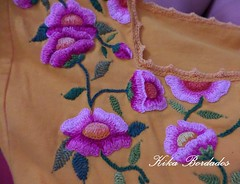 KikaBordados Kika  Krauss 105 (Kika Bordados by Angelica Krauss) Tags: pink flowers flores handmade embroidery laranja crochet tshirt amarelo bordados manualidades croche embroider feitomo camisetabordada camisetabordadamo bordadosfeitomo kikabordadoskikakrauss