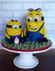 Two 3D Mini Minion Cakes (ldeandyment) Tags: cute yellow cartoon vanilla fondant minions buttercream charactercake kidscake sculptedcake