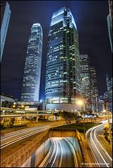 International Finance Centre Hong Kong (Stefan Bock) Tags: china street architecture night hongkong nacht strasse architektur ifc 2ifc lightslichter