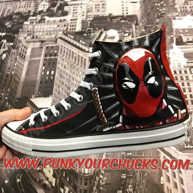 7bd311f2d4dd Custom Deadpool Chucks by MAG from Punk Your Chucks!!! (punkyourchucks) Tags