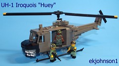 "UH-1 Iroquois ""Huey"" (ekjohnson1) Tags: brick metal war tank lego tiger camo full vietnam helicopter jacket ba cb citizen flack gi m16 nam moc m60 brickarms"