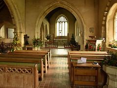 All Saints Church, Iden (Leonard Bentley) Tags: uk england eastsussex pews chancel oillamps iden choirstalls electricspotlamps