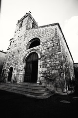 Old church, Mons, south of France (s.razura) Tags: old travel france church monochrome canon blackwhite europe mons southoffrance 1740mm 5dclassic