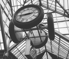 """""""It's always about timing. If it's too soon, no one understands. If it's too late, everyone's forgotten."""" ―Anna Wintour 🕟 🚂 🕦 (anokarina) Tags: beantown boston bw blackwhite mounthope massachusetts ma appleiphone6 clocks train station thet instagram bostonist grey grayscale foresthills"""