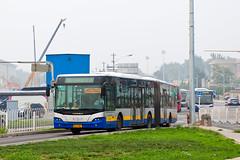 """[Buses in Beijing] Youngman Neoplan JNP6180G """"Centroliner"""" BPT #B94044 Line BRT-1 at the Temple of Heaven (tonyluan1990) Tags: beijing  publictransport brt iveco bendybus  neoplan busrapidtransit  lowfloor articulatedbus   thetempleofheaven  centroliner  eurorider cj6180gch jnp6180g beijingpublictransportholdingsltd lowentry    bisectionbus cbciveco     youngmanneoplan beijingpublictransport"""