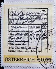 great stamp Austria  0.55 55c (old austrian stock exchange list anno 1771 of Vienna Stock Exchange; list of quotations, Kurszettel 1771, Course der Obligationen, ,  ) poste-timbres Autriche sellos Austria selos Briefmarken sterreich porto (thx for sending stamps :) stampolina) Tags: old money price postes austria oostenrijk sterreich market stamps cent bonds 55 markt financial exchange postage postzegel stockexchange quotation autriche handel geld kurs brse preis sellos mariatheresia briefmarken markas pulu selos marketprice timbres francobolli zegels znaczki finanz stockexchangequotation frimerker frimaerke pullar timbru anleihe cotao brsenkurs kurszettel wertpapier   postapulu postestimbres postetimbres znamk cotizacinburstil obligationen stockexchangeprice coursboursier corsodiborsa   kursgiedowy