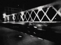 Emergency (FUMIGRAPHIK_Photographist) Tags: road street city bridge light people urban blackandwhite black blur texture bike architecture night speed photography artistic outdoor
