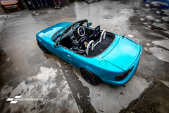 Mazda MX5 Gloss atomic teal wrap (Sean at Monsterwraps Ltd) Tags: wrapping wrapped wrap automotive modified custom southampton mazda lowered jap jdm 3m mx5 stance fitted carporn carwrap carwrapping japcars 3m1080 monsterwraps